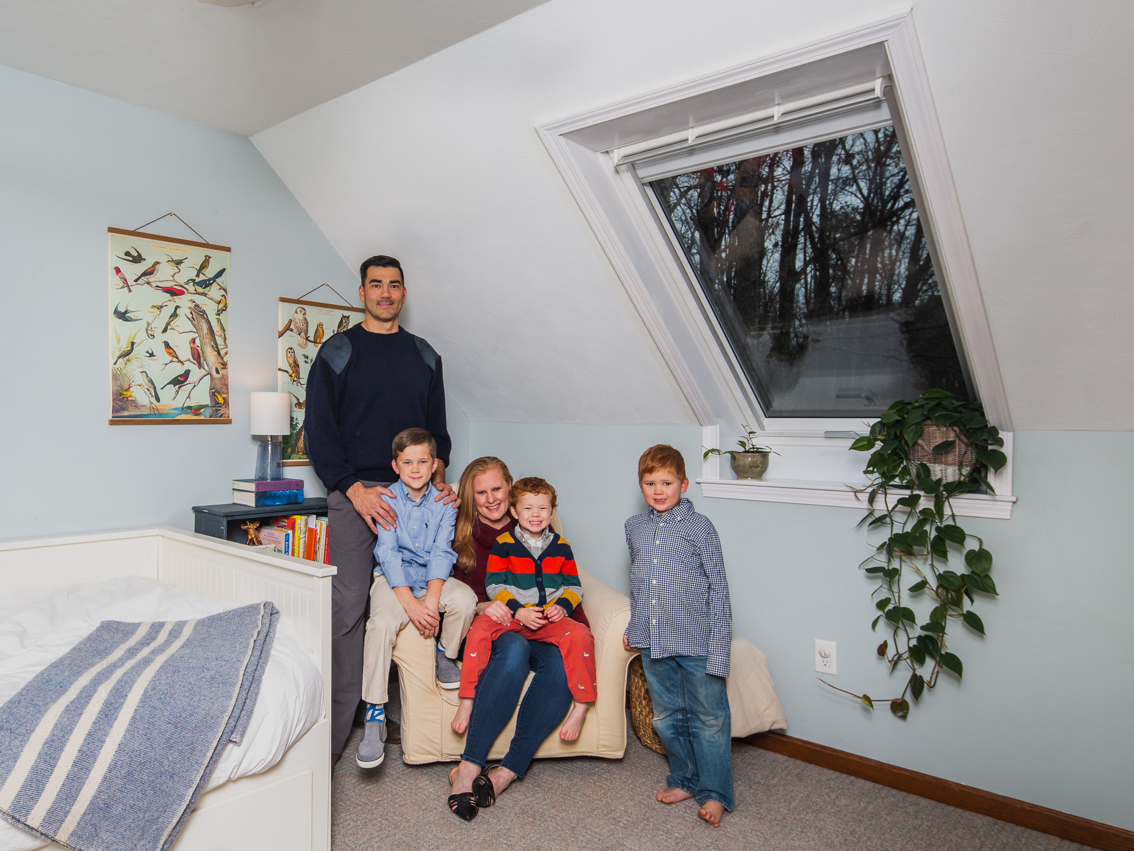 Attic Bedroom Roof Window Family Feat