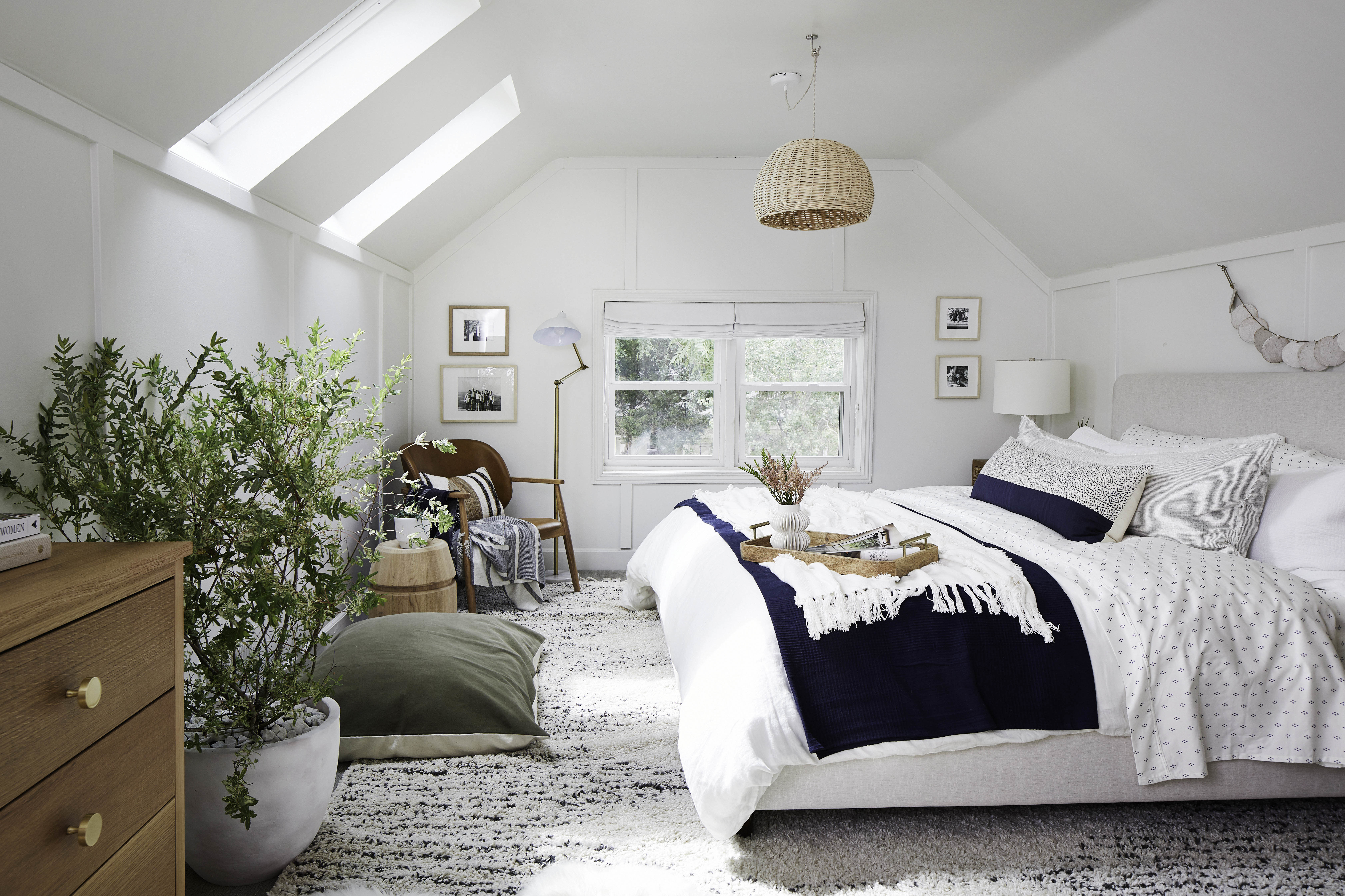 Bedroom Skylights Blue White Plants Tmb