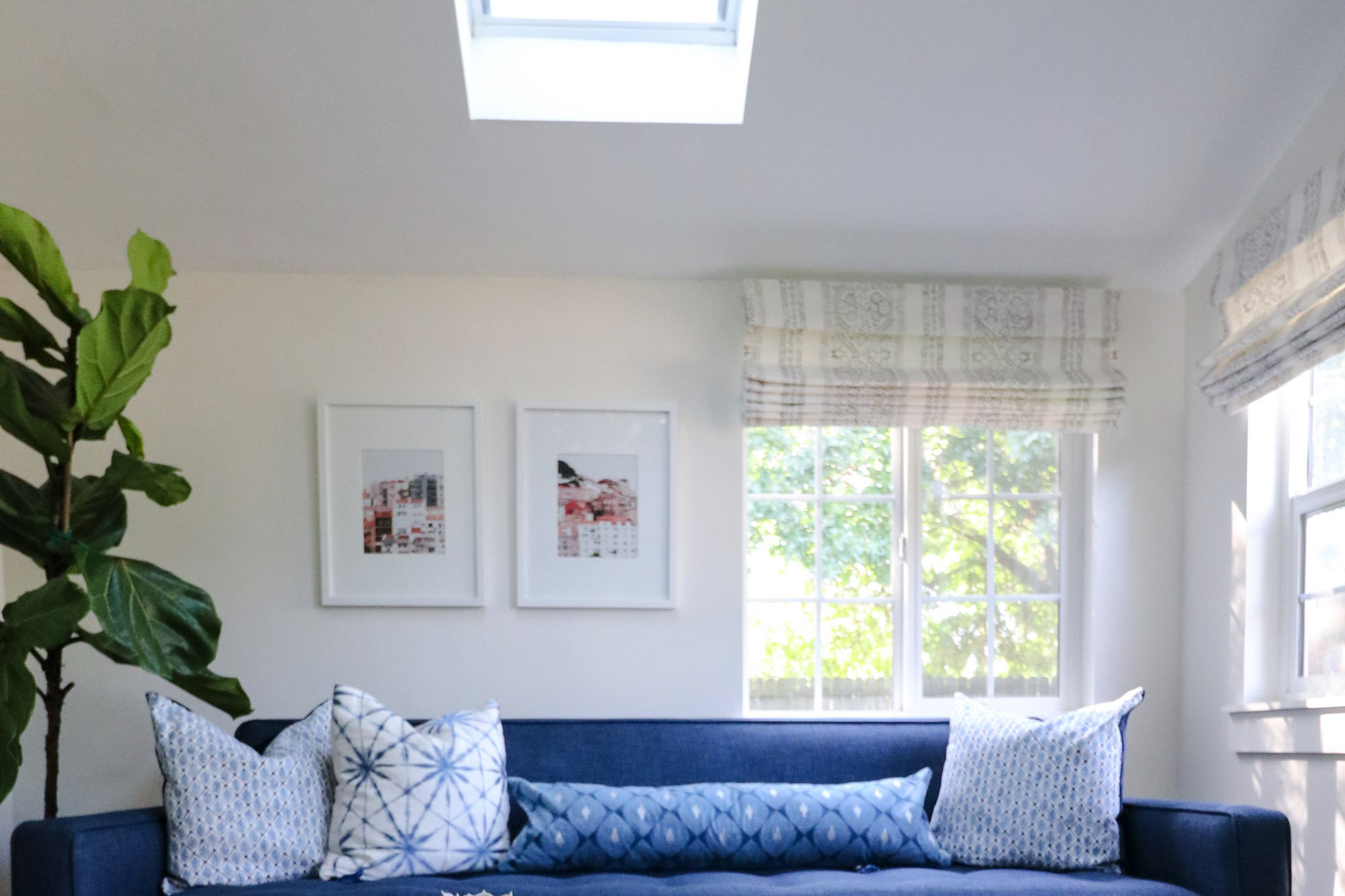 Blue sofa under skylight tmb