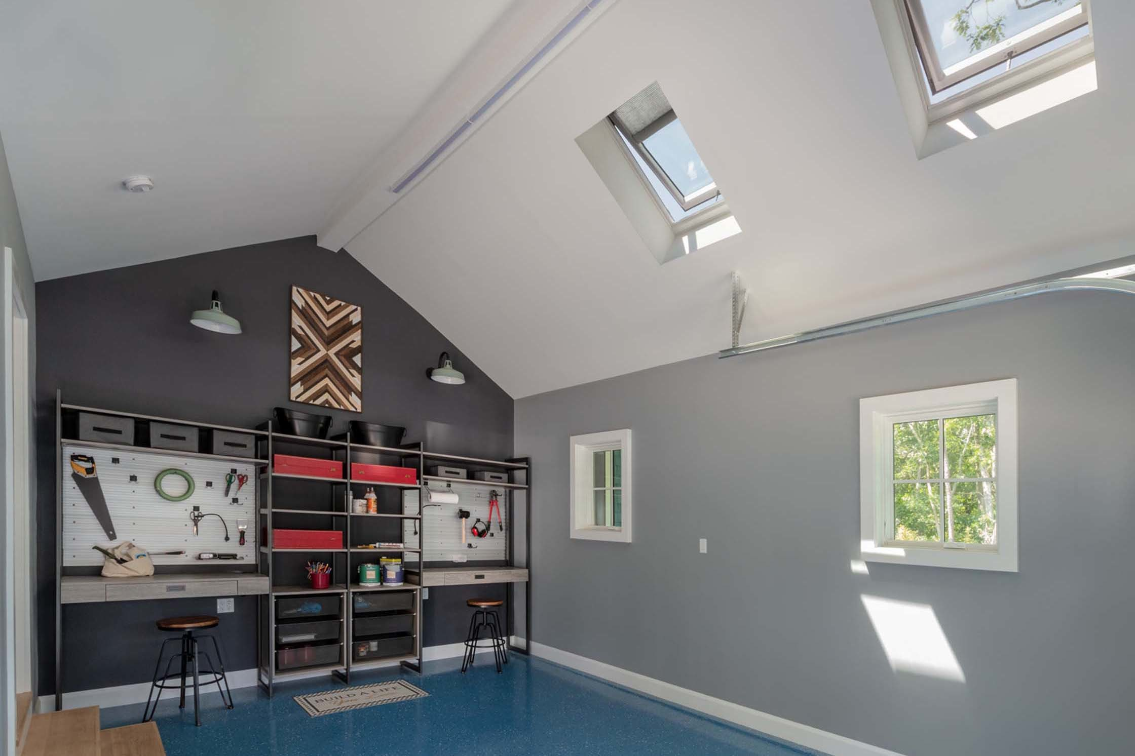 Garage maker space skylights small