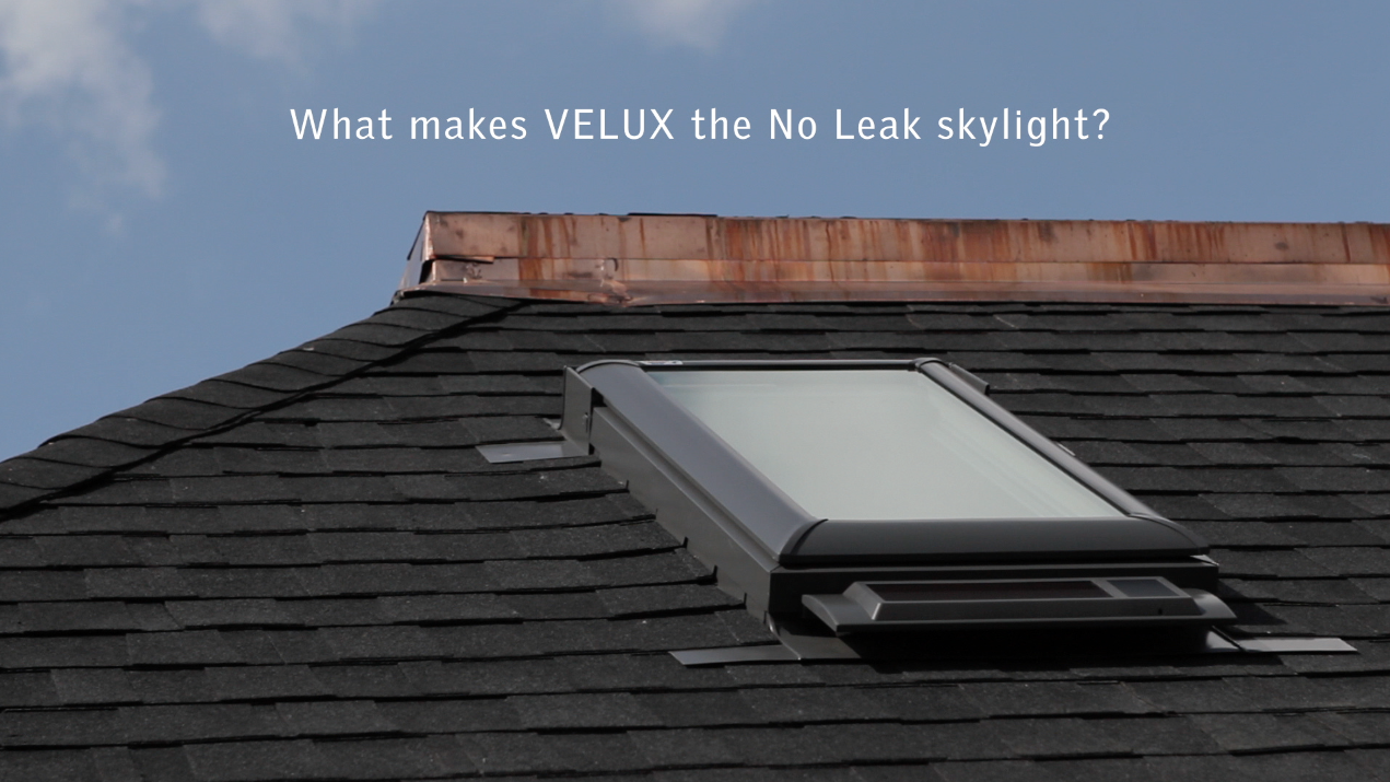 VELUX skylights include three layers of protection against rain.