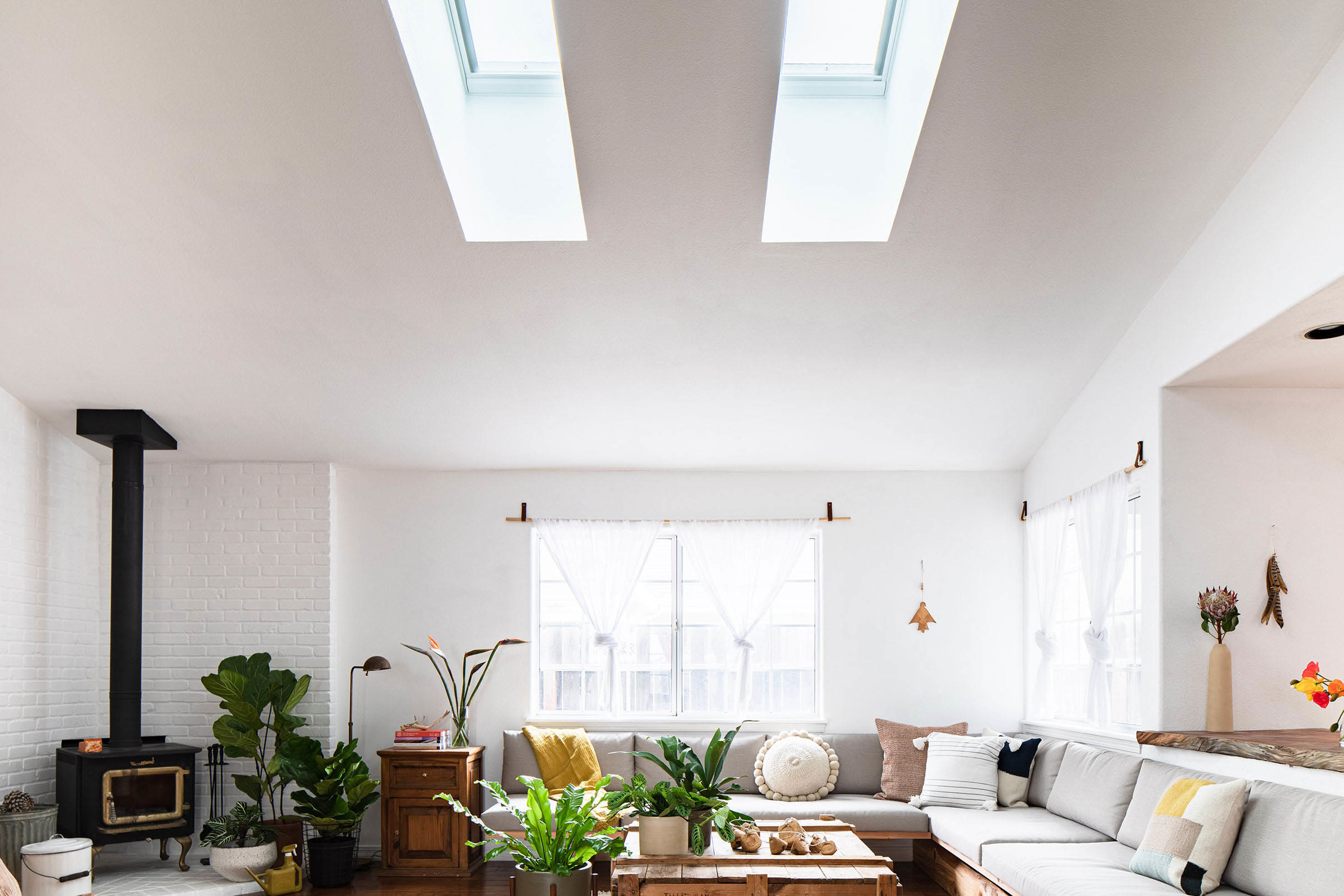 Living room two skylights tmb