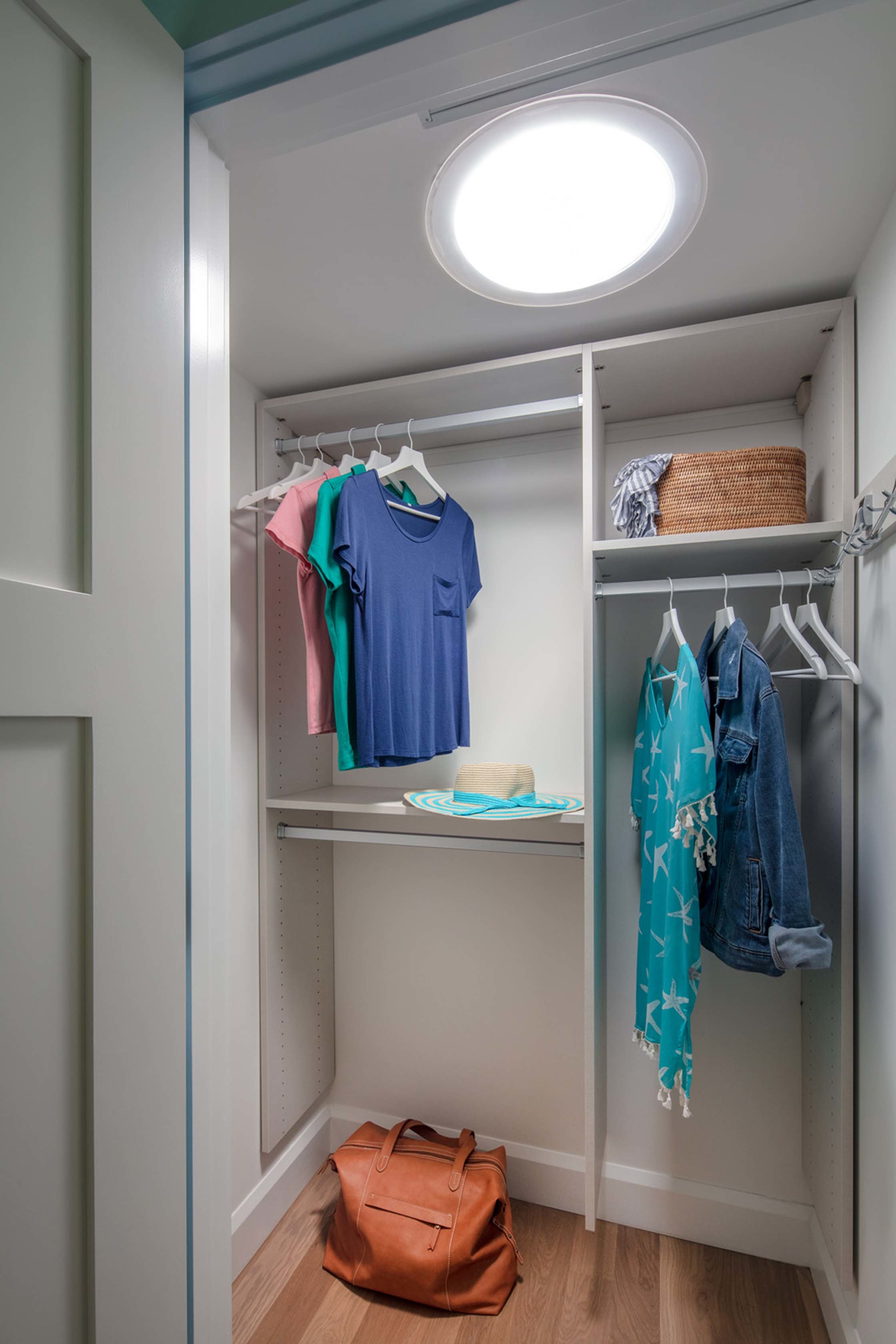Reach in closet sun tunnel