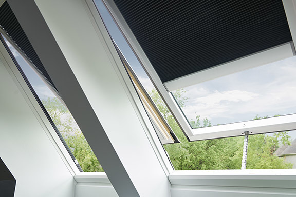 Velux Sarah D Skylight Shade Close