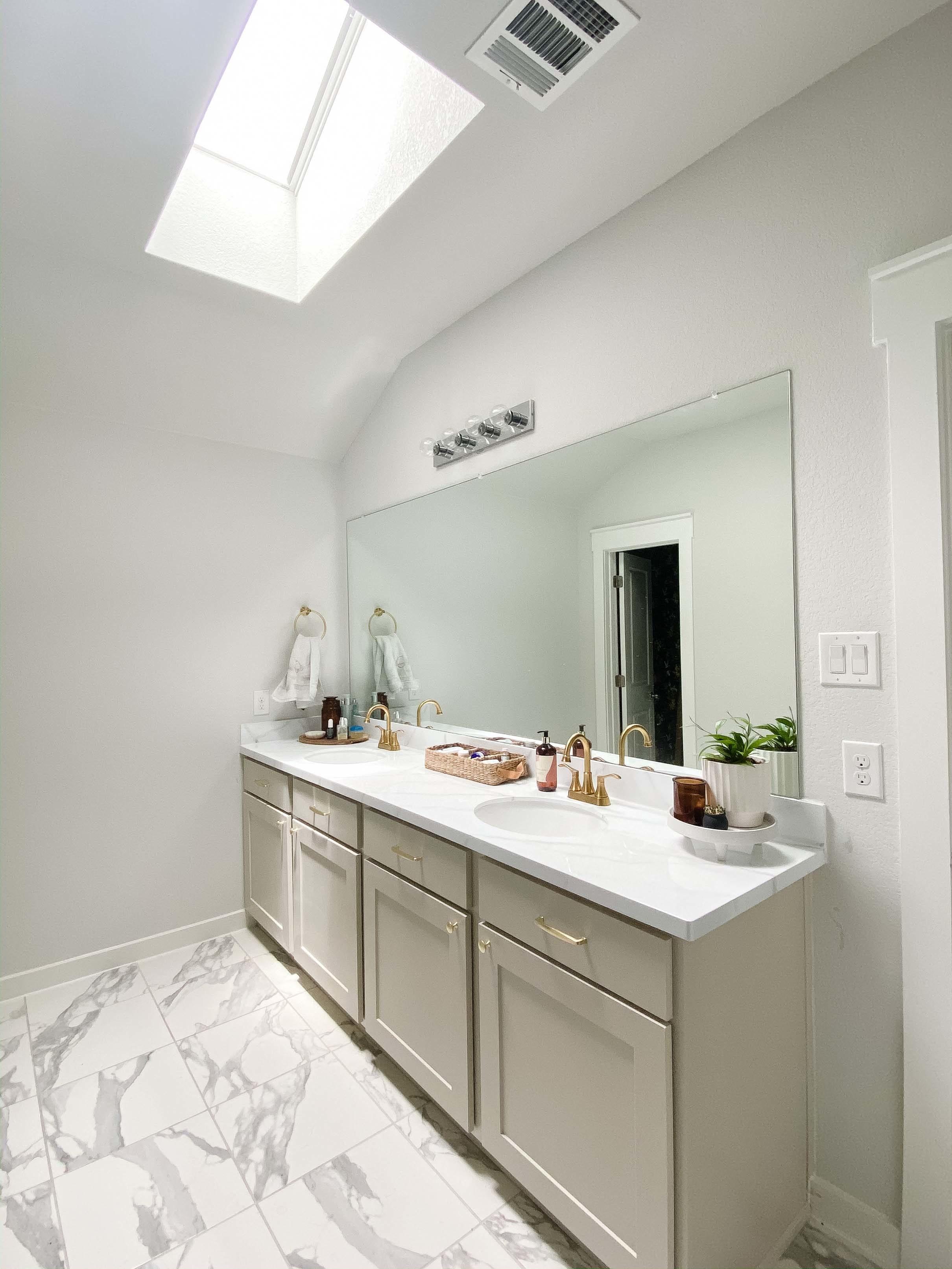 Bathroom white skylight