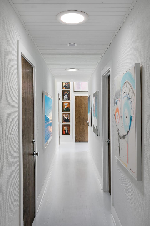 Artful hallway