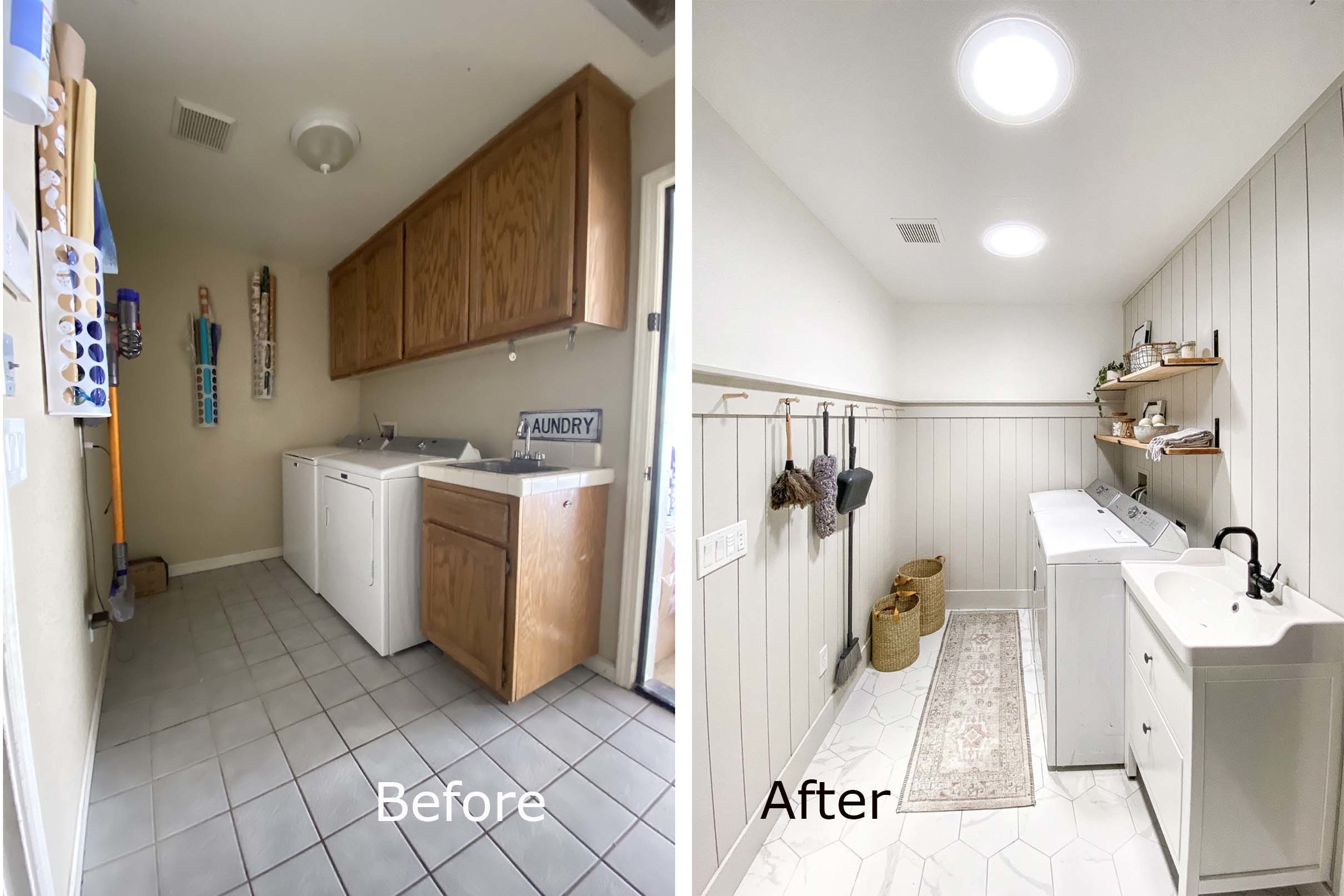 Laundry room before after