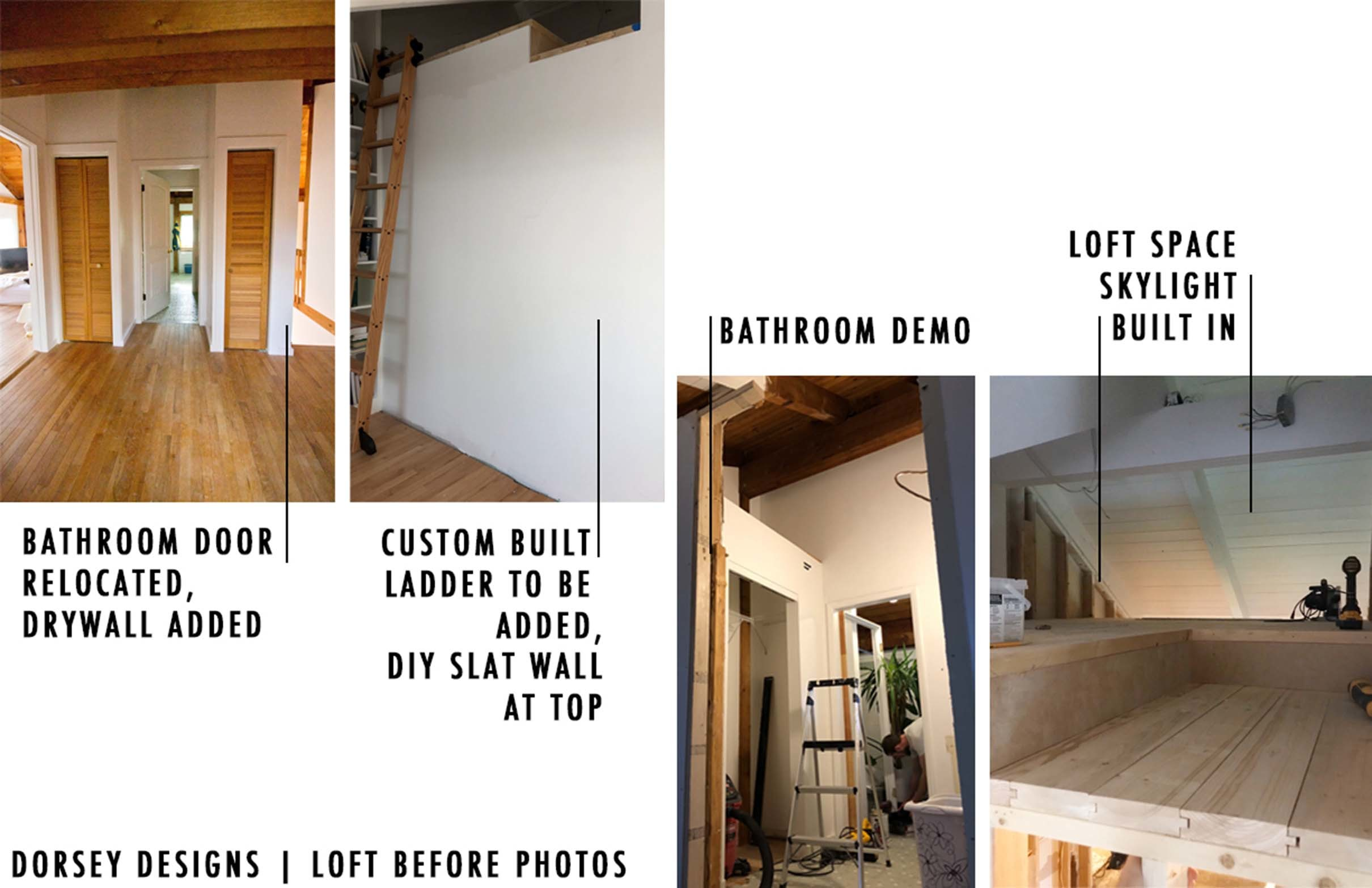Loft before photos design plan by dorsey designs