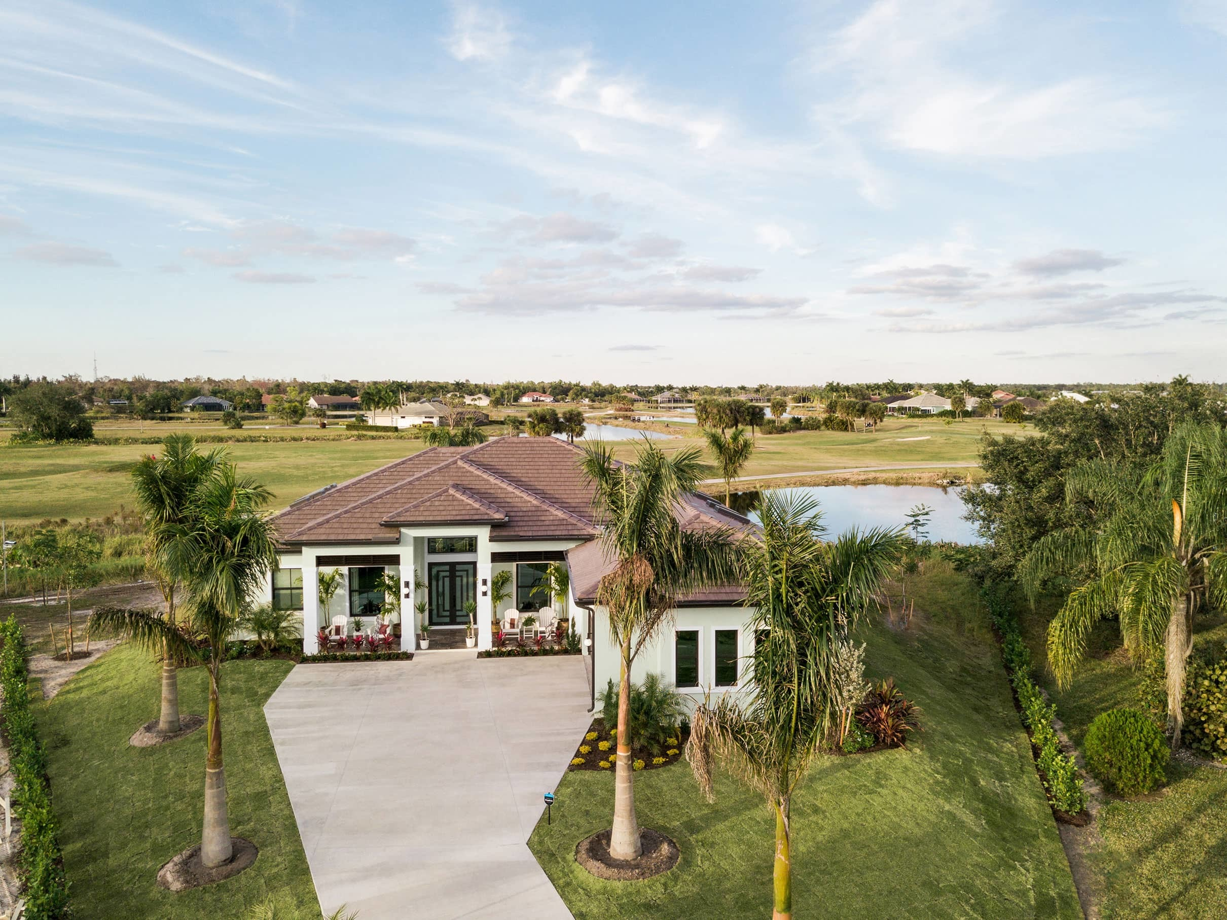Ranch home tile roof florida