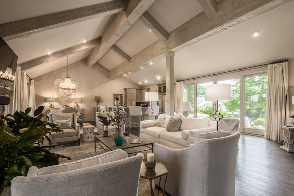 Make The Most Of Exposed Beams In Your Living Room