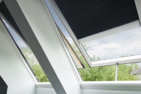 Skylights with grey blinds tmb