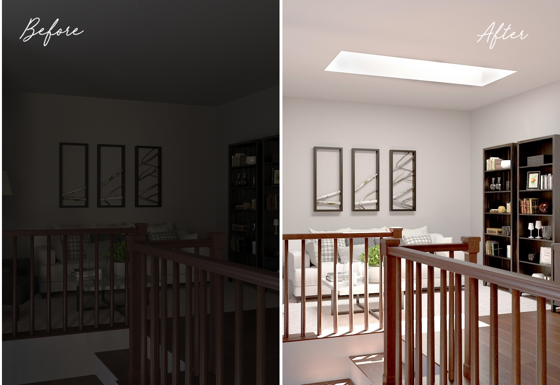 Inspiration Home Office before after 2