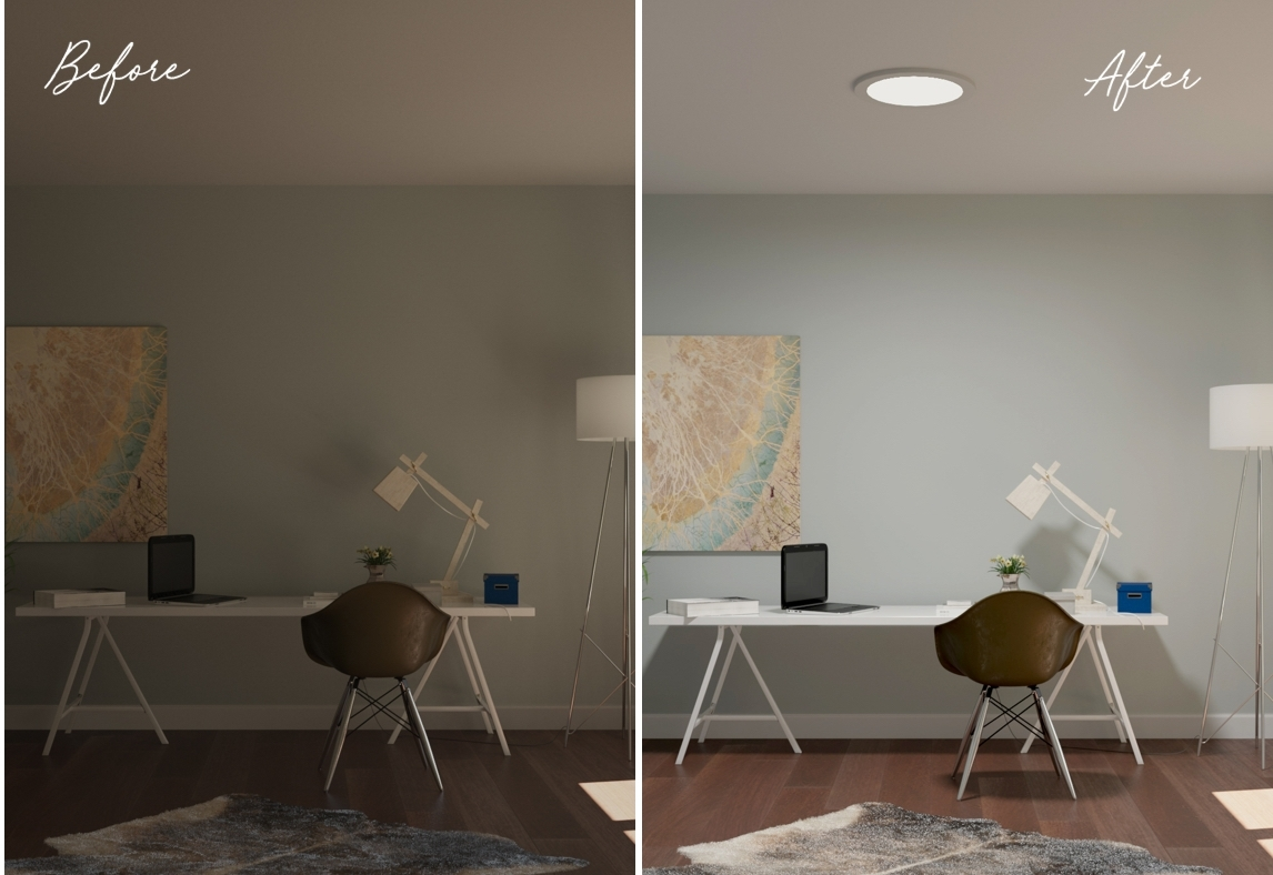 Inspiration Home Office before after