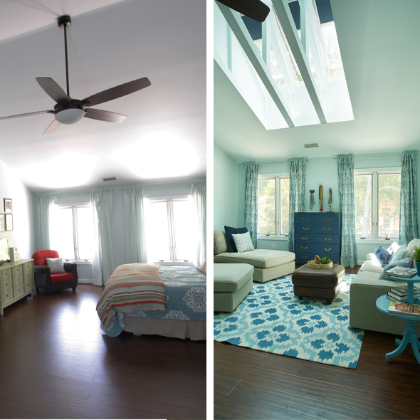 Bedroom Tasha Kaliedoscope before and after 590x590 1
