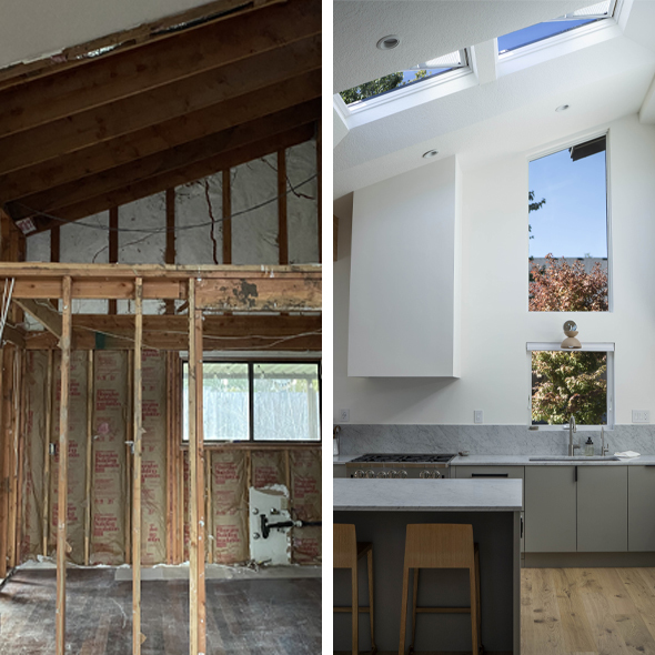 Mickey Trescot Kitchen before and after 590x590