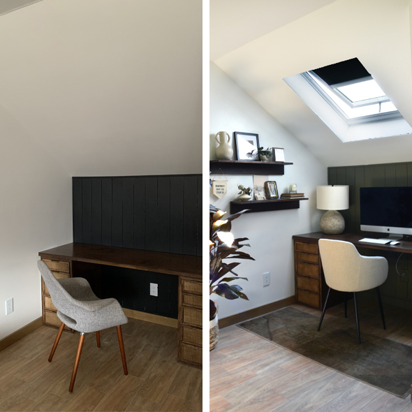 Home Office Nook before and after 590x590