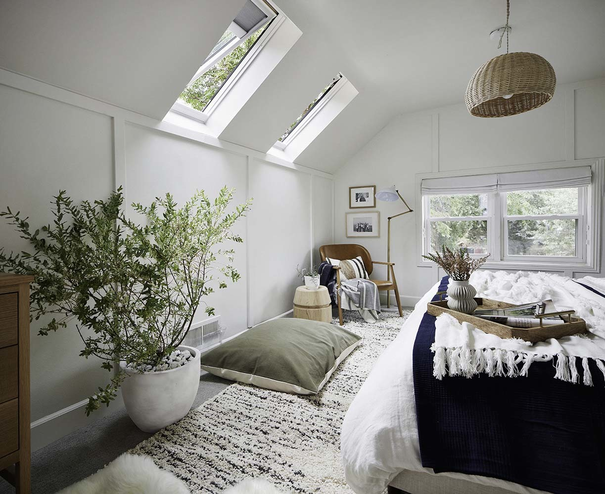 Bedroom Skylight With Blinds Lighting Control And Privacy